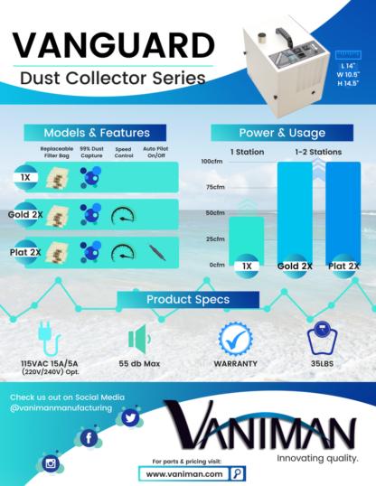 Vaniman Vangaurd Series Dental Dust Colletor Spec Sheet